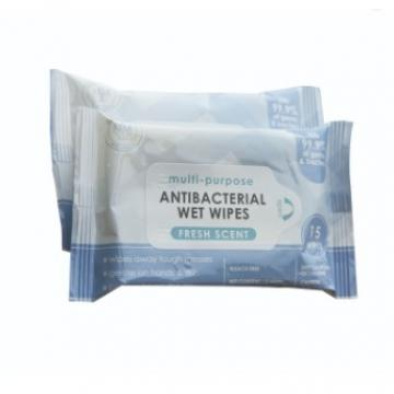 OEM Alcohol Wet Wipes High Quality 50pcs Per Pack Cleaning Wet Wipes Unscented For Adult Free Samples Disinfection