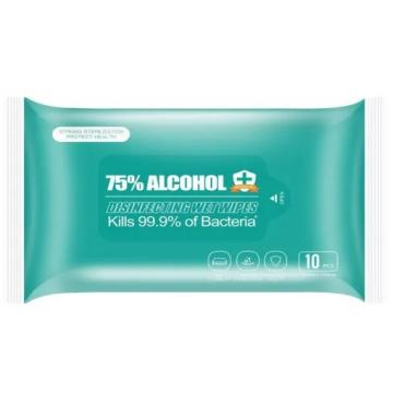 75% Alcohol Wet Wipes With Factory Stock (10pcs/pack)