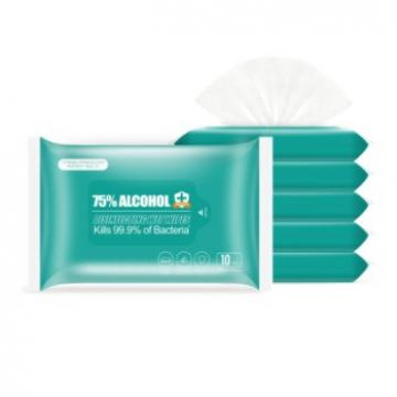 Wholesale Non Woven Eco-Friendly Disposable Wet Wipes 75% Alcohol