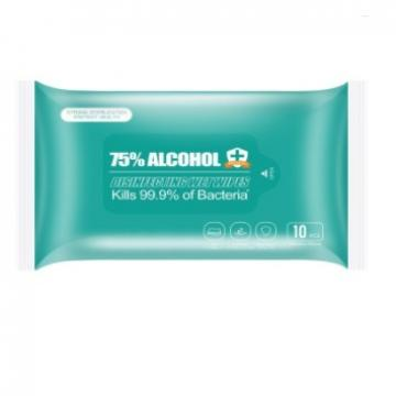 Disposable Soft Cotton Tissue Facial Water Wet Wipes 75% Alcohol