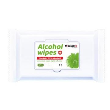 MSDS custom logo sanitizing disinfecting alcohol wipes 75% alcohol factory