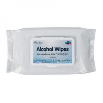 60PCS Tub Packing 70% Ethanol Isopropyl Alcohol Wipes