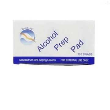 """Square Cotton Pads 2.36'x2.36"""" Well-Saturated in Alcohol, 100 Alcohol Wipes Alcohol Prep Pads"""