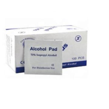 100PCS Per Box Alcohol Prep Wet Wipes Medical Sterile Alcohol Pad