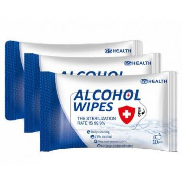 Non-woven 75% alcohol pad cleaning wet wipes Manufacture