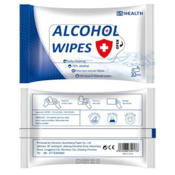 custom 75% isopropyl alcohol cleaning wet wipes