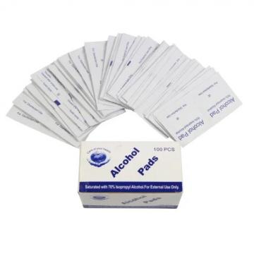 Hot sale high quality alcohol swab pad for cleaning hand disinfection individually wrapped alcohol prep pads