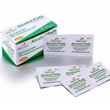 75% Density Family Hospital Use Wet Alcohol Pad Wipes For Travel Pad