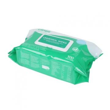 OEM Containing 75% Alcohol 100PCS a Can Antibacterial Wet Wipes with FDA Cert