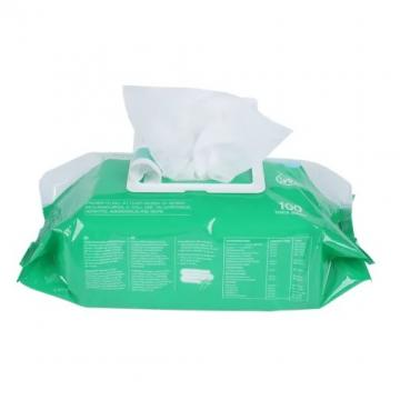 Custom Brand Non-Woven Tissue Alcohol Wet Wipes by Foil Bag Packaging